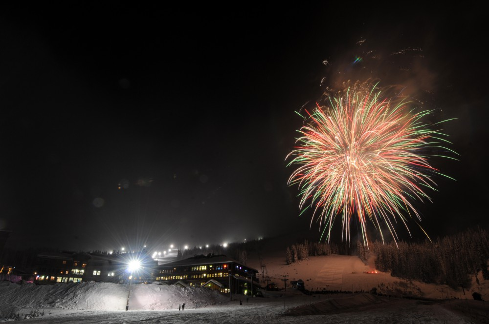Fireworks at Schweitzer Mountain Resort