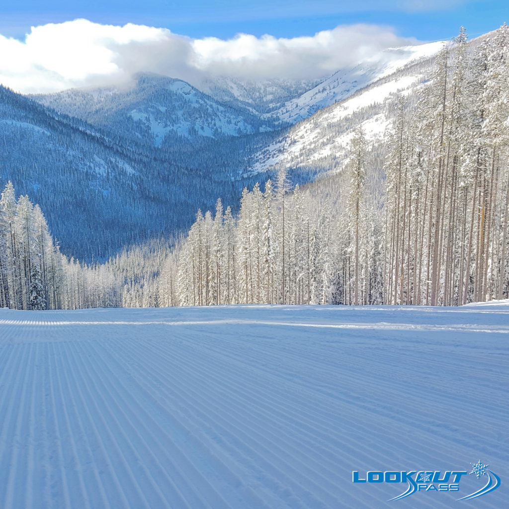 Groomed Ski Trails at Lookout Pass Ski and Recreation Area