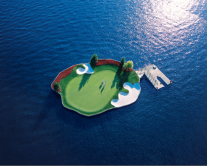 The Floating Green at The Coeur d'Alene Resort
