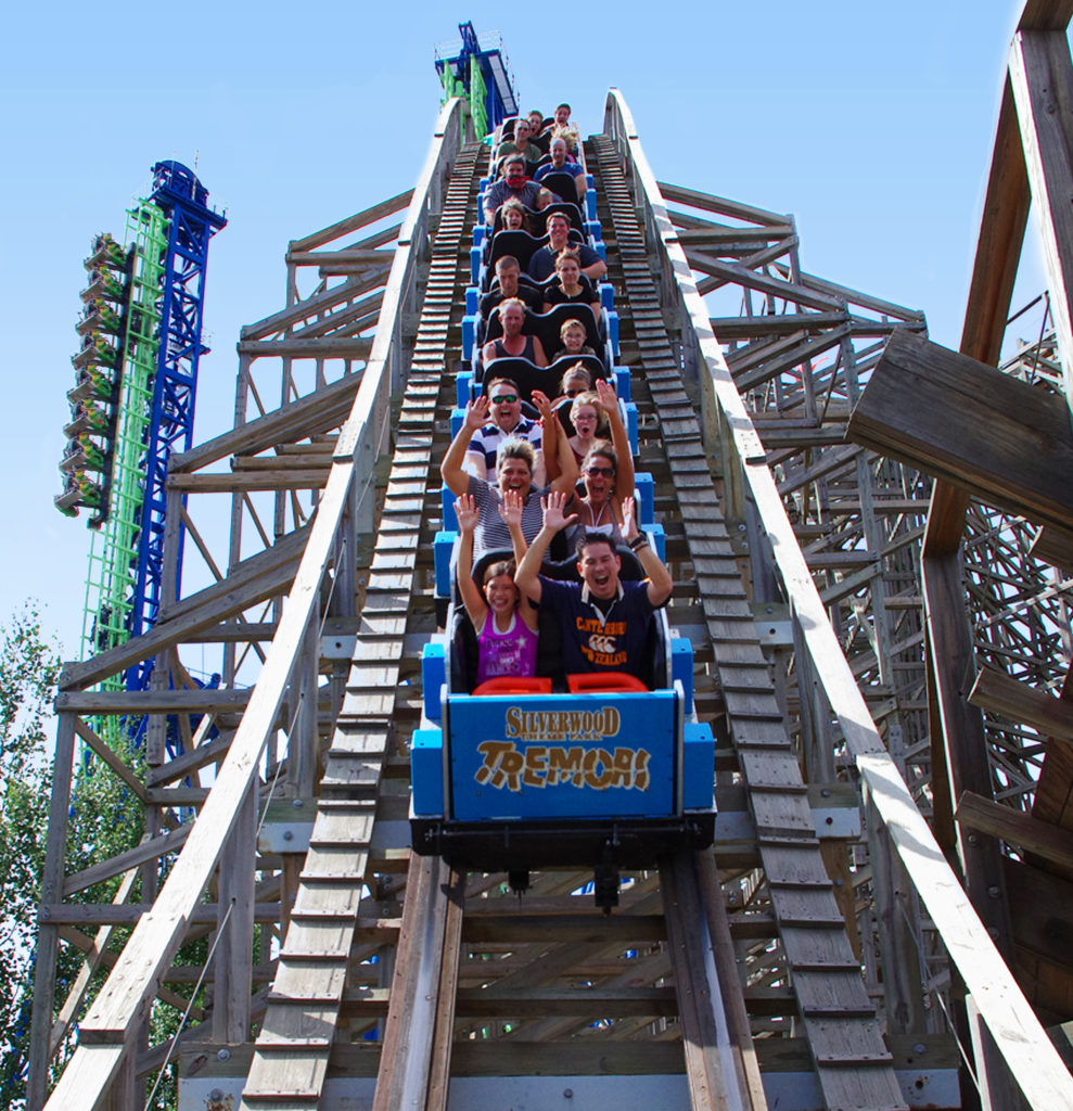 Tremors Roller Coaster at Silverwood in Athol, Idaho