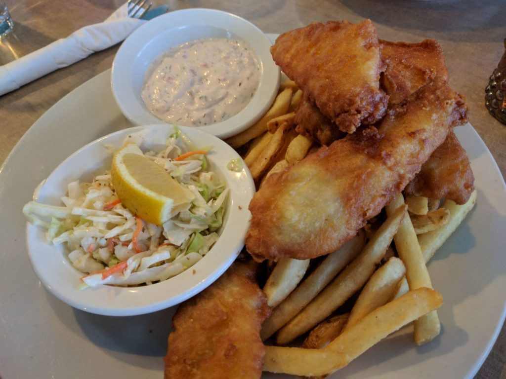 Fish and Chips at Trinity in Sandpoint