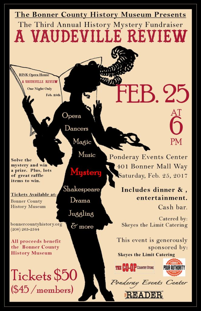 2017 History Mystery Poster for Bonner County History Museum